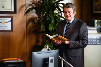 John Michael Higgins as Principal Ronald Toddman in the 'Saved by the Bell' reboot via NBC's press site