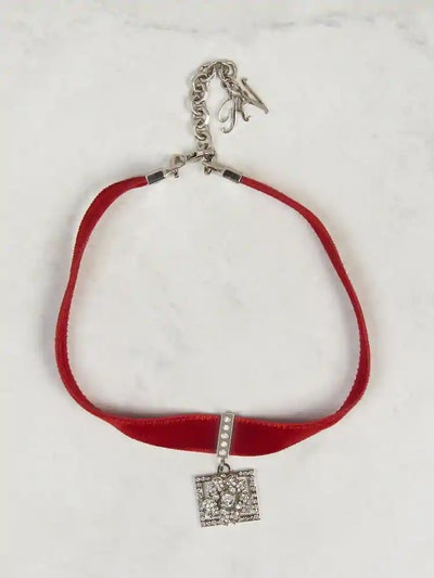 Choker Necklace Bouquet Strass Buckle