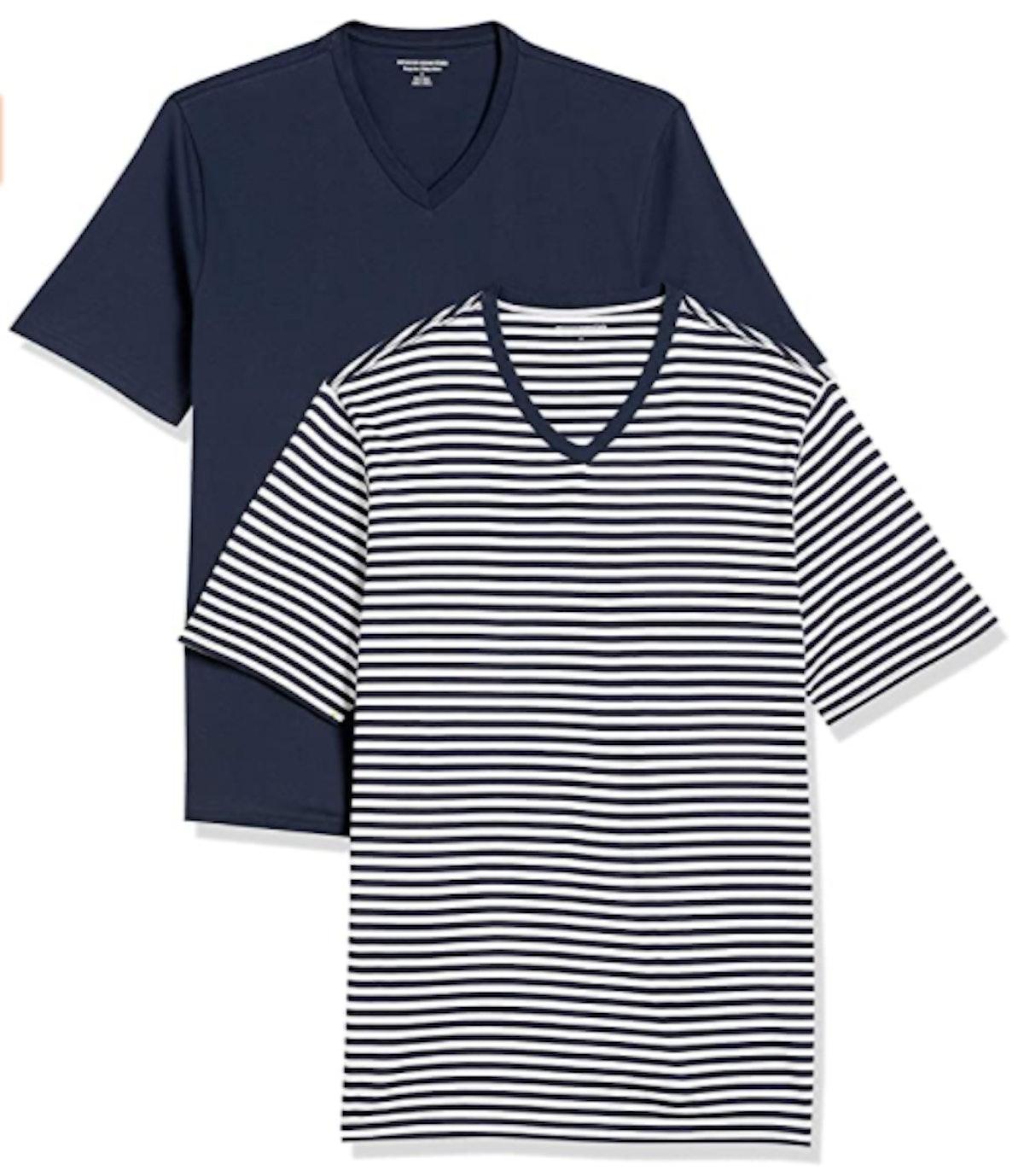 Amazon Essentials Men's Loose-Fit V-Neck T-Shirt (2-Pack)