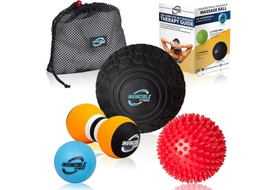 Invincible Fitness Deep Tissue Massage Ball Set (4 Pieces)