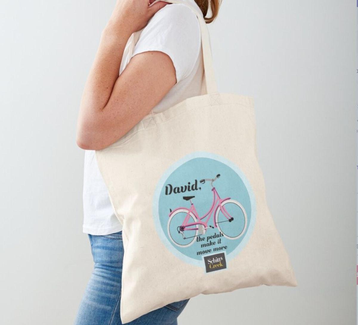 'Schitt's Creek' David's Pink Bike Tote Bag