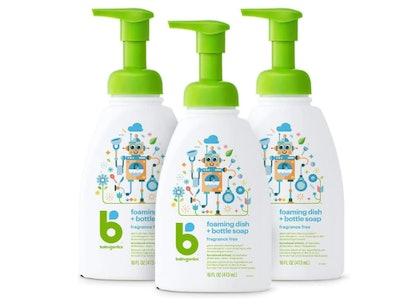 Babyganics Foaming Dish & Bottle Soap, 16 Ounces (3-Pack)