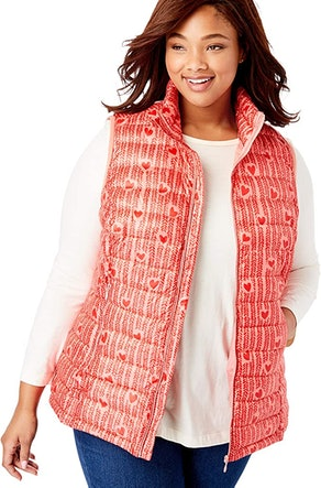 Woman Within Plus Size Puffer Vest