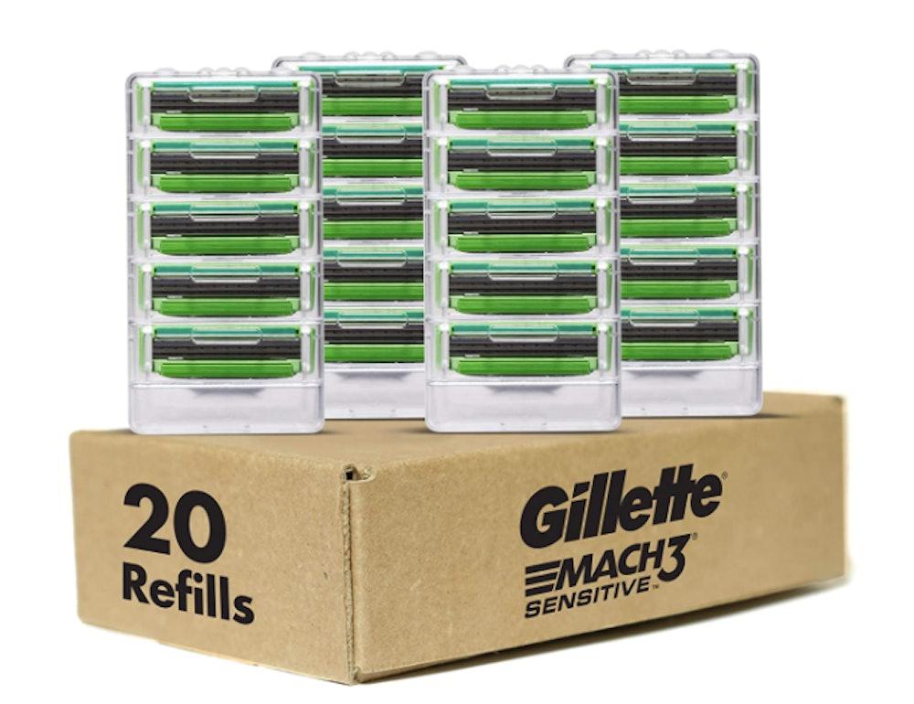 Gillette Mach3 Sensitive Men's Razor Refills (20-Pack)