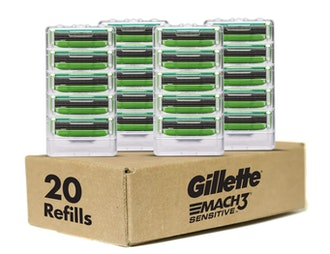 Gillette Mach3 Sensitive Men's Razor Refills (20-Pack)