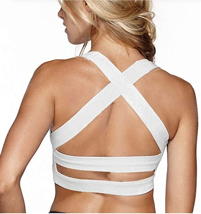 Snailify High Impact Criss Cross Sports Bra