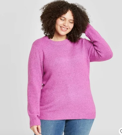 Ava & Viv Women's Plus Size Crewneck Pullover Sweater