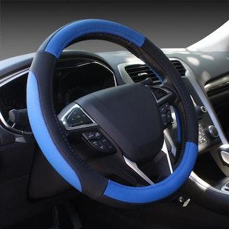 SEG Direct Microfiber Leather Car Steering Wheel Cover