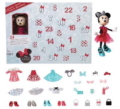 Disney Minnie Mouse Collectible Fashion Doll Holiday Advent Calendar