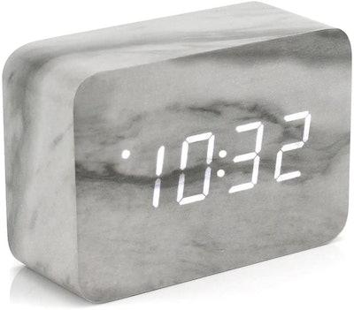Oct17 Marble Pattern Alarm Clock
