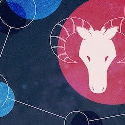 Aries zodiac design