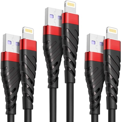 OIITH 10-Foot iPhone Charger Cables (3 Pack)