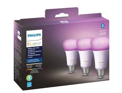 Philips - Hue White & Color Ambiance A19 Bluetooth LED Smart Bulbs