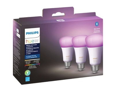 Philips - Hue White & Color Ambiance A19 Bluetooth LED Smart Bulbs
