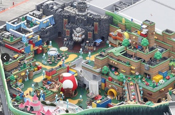 Super Nintendo Land aerial view 2