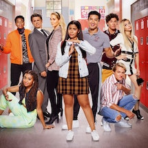 The main cast of the 'Saved By The Bell' reboot via NBC's press site
