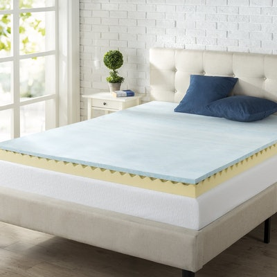 Zinus 2-Inch Swirl Gel Memory Foam Mattress Topper