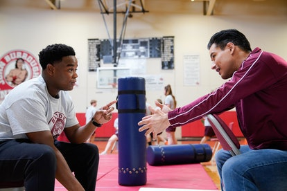 Dexter Darden as Devante & Mario Lopez as A.C. Slater in the 'Saved by the Bell' reboot via NBC's press site