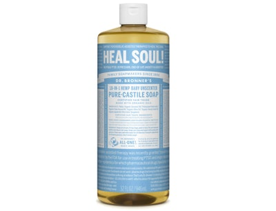 Dr. Bronner's Pure-Castile Baby Unscented Soap, 32 Oz.