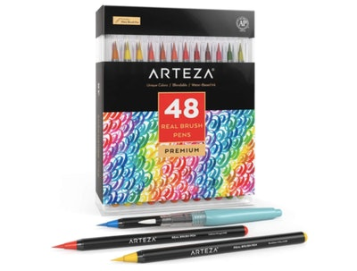 Arteza Real Brush Pens, 48 Colors
