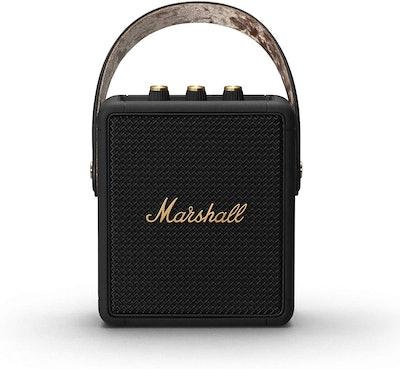 Marshall Stockwell II Portable Bluetooth Speaker - Black & Brass [Amazon Exclusive]