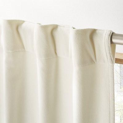 Ivory Velvet Curtain Panel