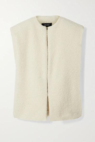 Gwendia alpaca-blend bouclé vest