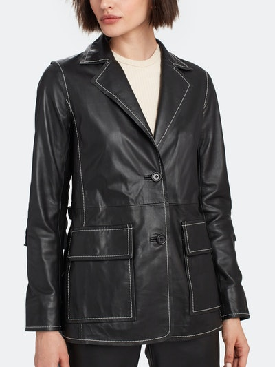 Ariana Leather Blazer