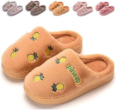Finleoo Fluffy Pineapple Toddler Slippers