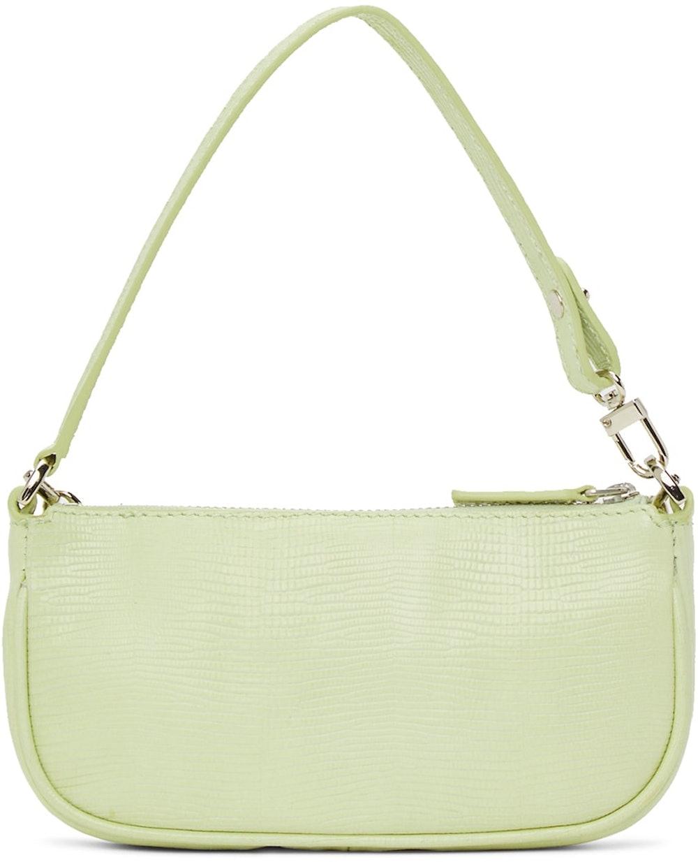 SSENSE Exclusive Green Lizard Mini Rachel Bag