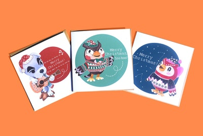 Animal Crossing Christmas Cards