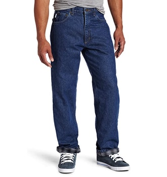 Carhartt Men's Relaxed-Fit Flannel-Lined Jeans