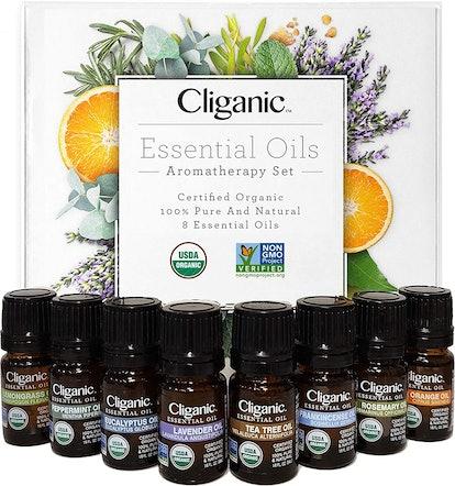 Cliganic Organic Essential Oil Set (Set of 8)