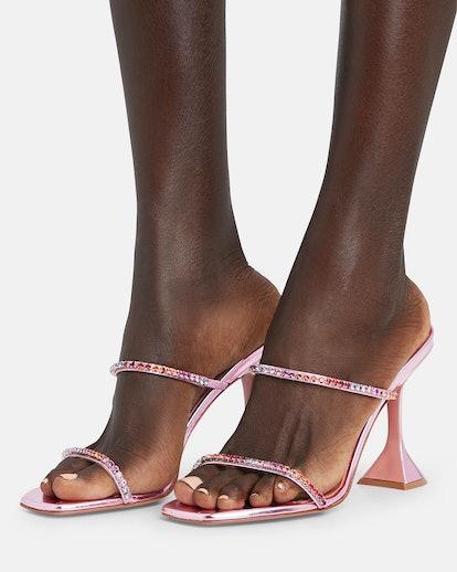 Gilda Metallic Slide Sandals
