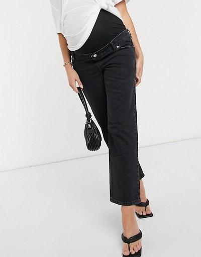 Maternity High-Rise Stretch 'Slim' Straight-Leg Jeans