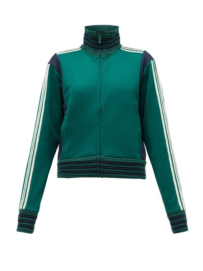 Lovers Crochet-Ribbed Technical Track Top