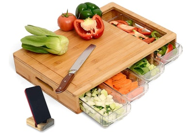 NOONCHIHOME Cutting Board with Containers