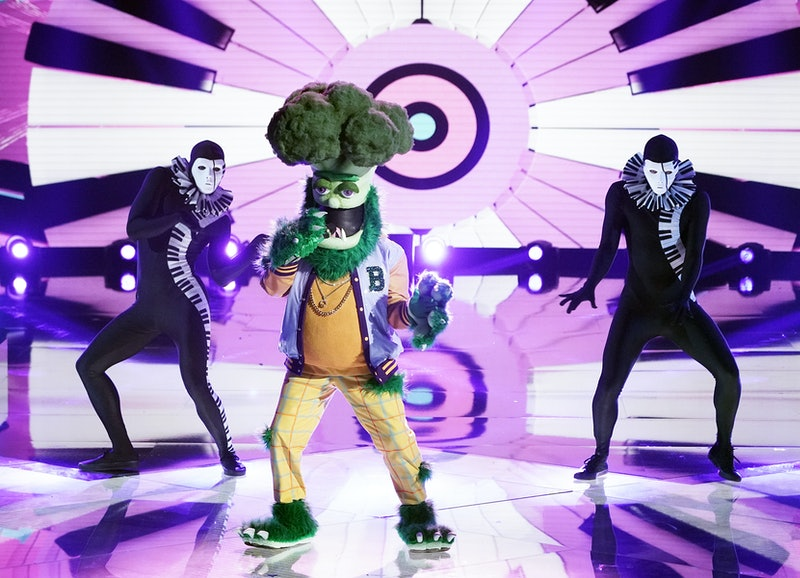 Broccoli performs in the 'Masked Singer' Group C finals, via FOX press site.