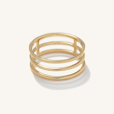 Triple Line Ring