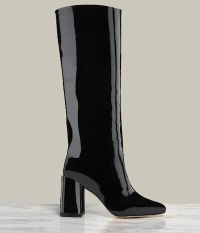 Bo Knee Boot in Black Patent