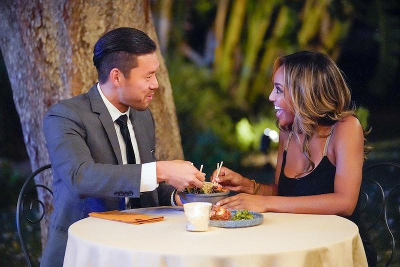 Joe Park and Tayshia Adams enjoy dinner on Season 16 of 'The Bachelorette' via ABC Press Site