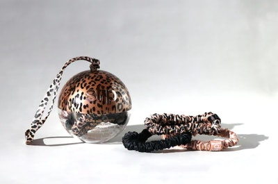 slip Rose Leopard Small Slipsilk Scrunchies Bauble Trio