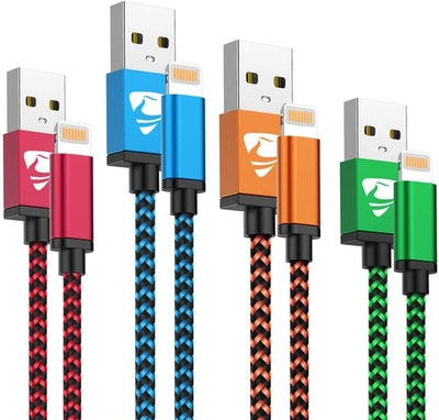 Aioneus iPhone and iPad Charging Cables (4-Pack)
