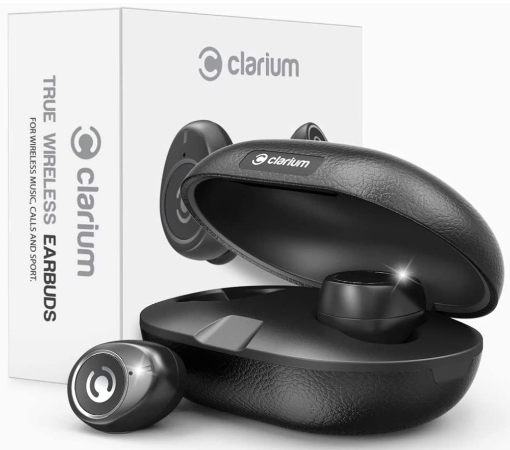 Clarium Black Bluetooth Wireless In-Ear Headphones