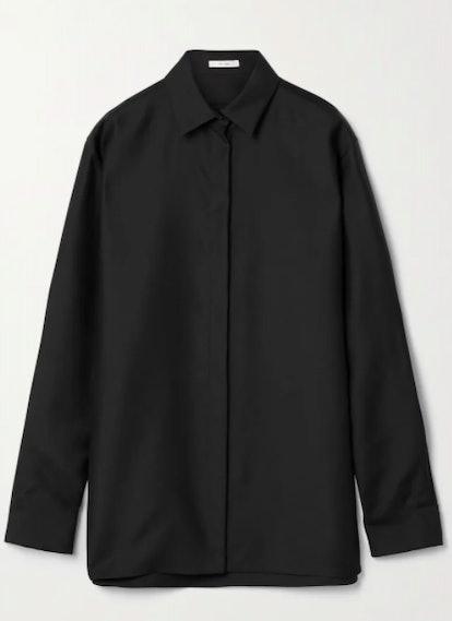 Big Sisea wool and silk-blend poplin shirt