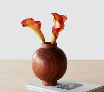 Tikal Wood Bud Vase