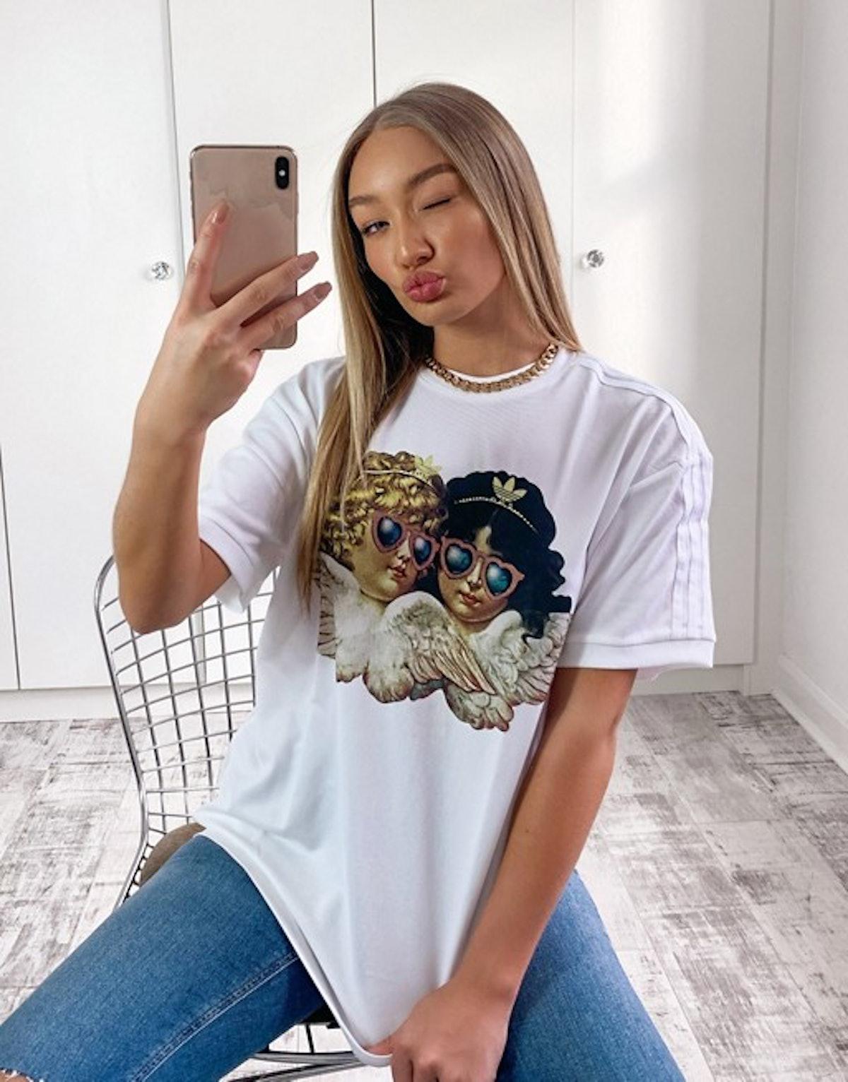 Adidas Originals x Fiorucci Angel T-shirt In White