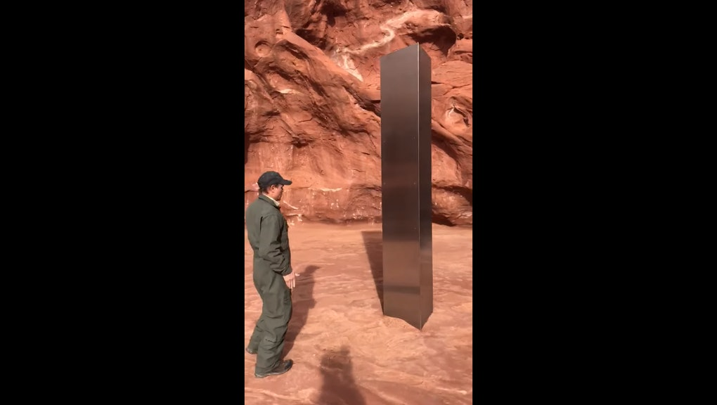 dxhuio4besnpwm https www mic com p everyone is pretty sure this weird monolith found in the middle of a desert was put there by aliens 45769657