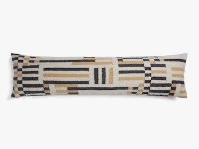 Color Block Lumbar Pillow Cover