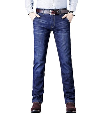 Grimgrow Men's Fleece-Lined Stretch Skinny Jeans